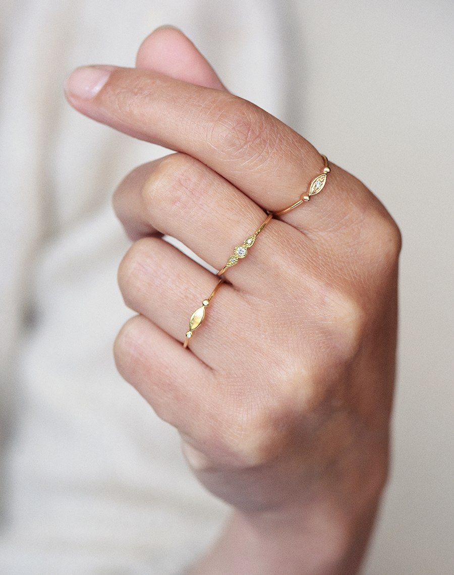 Our new gold and diamond rings